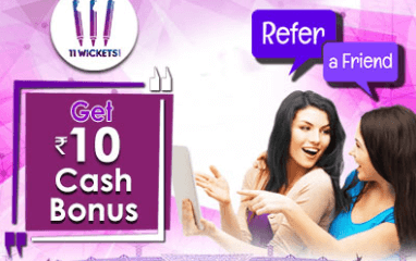 11Wickets Refer & Earn- Get Rs 25/Sign Up + 10/Refer Free