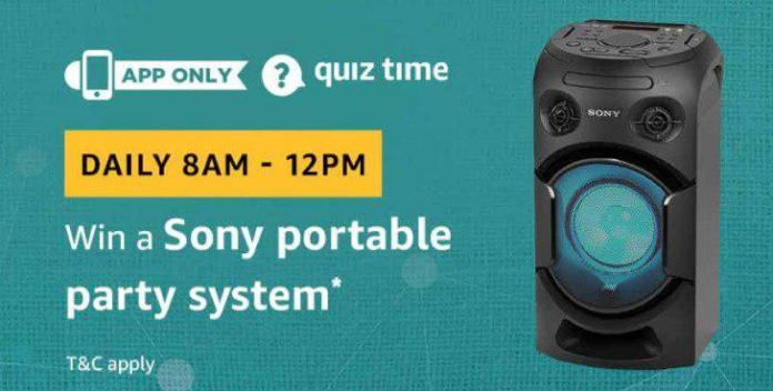 Amazon Sony Speaker Quiz Answers