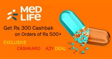 Medlife Cashback Loot Offer