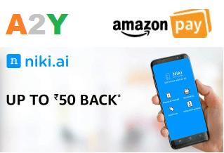 Niki Amazon Cashback Offers