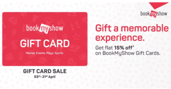 Bookmyshow Gift Card Sale