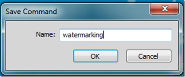 Saving the Watermarking Command