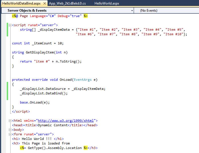 ASP.NET Data Binding