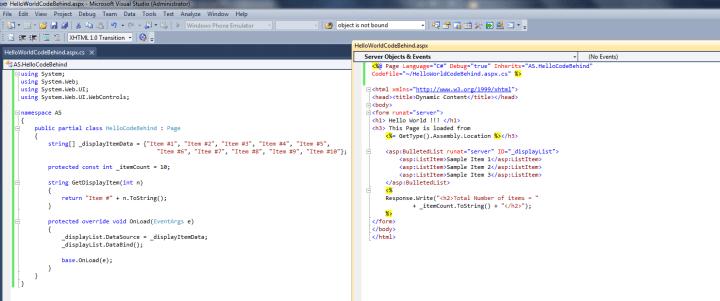 ASP.NET Code Behind