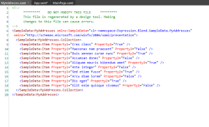 Expression Blend 4 : Sample Data xaml
