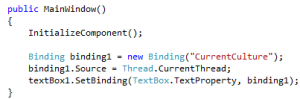 WPF Binding in Code