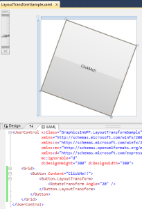 WPF Layout Transform
