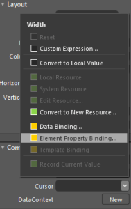 Expression Blend 4 : Element Property Binding