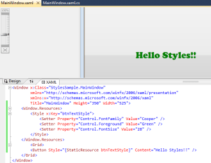 WPF Applying Styles