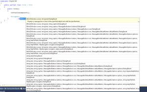 Visual Studio Intellisence
