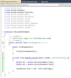 WPF Xaml + Code Behind