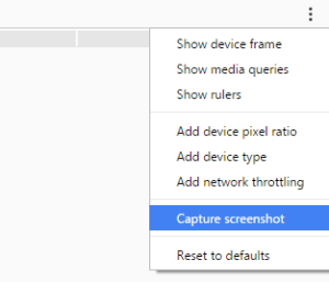 a picture showing where to find the Capture Screenshot option