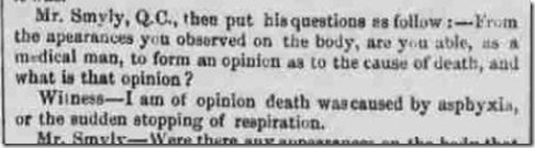 Freeman's Journal December 10 1852 Cause of death