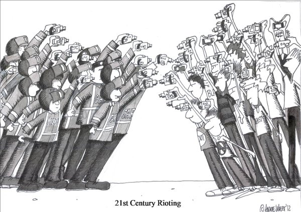 21st Century Rioting by Annie West