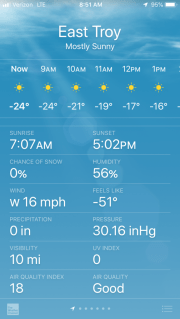 Cold Temps on Phone