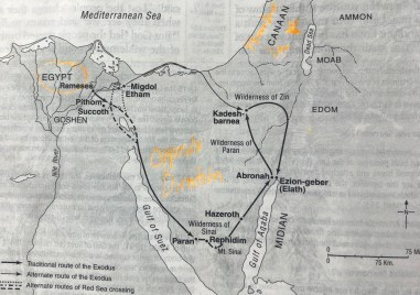 Exodus from Egypt map, ESV Study bible