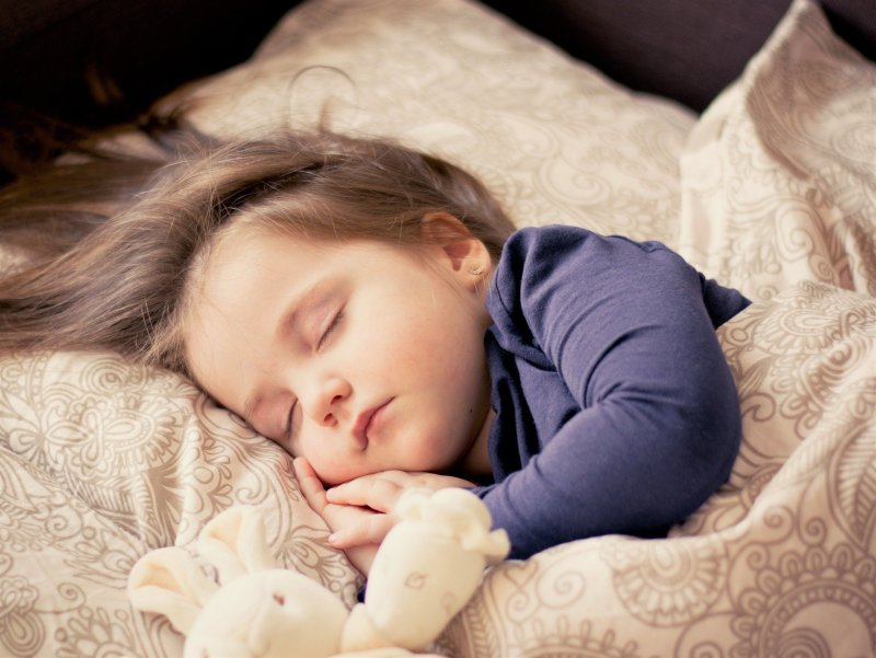 Child sleep on pillow of providence