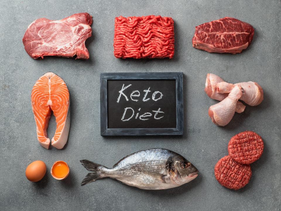 Keto diet, low carb concept