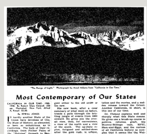 Every Mention of Ansel Adams in the New York Times in the 1940s
