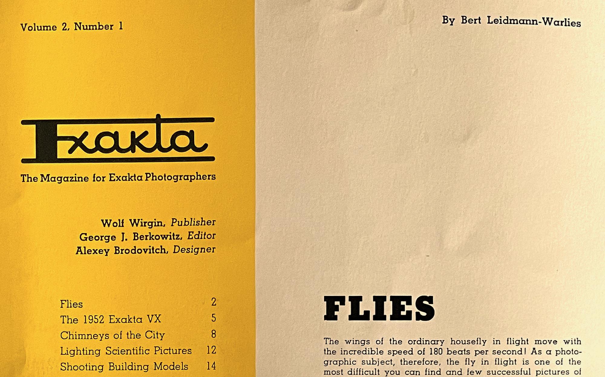 Alexey Brodovitch's Forgotten Design for Exakta Magazine