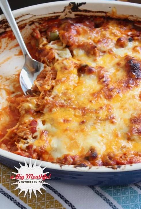 Spaghetti Squash Bake | A Big Mouthful