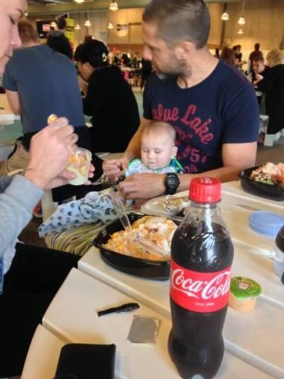 Otto spiste sammen med os, dog medbragt mad