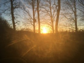 Solnedgang fredag den 2. dec.