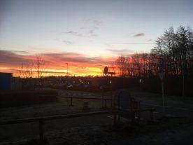 2. jan - Meget smuk morgen himmel