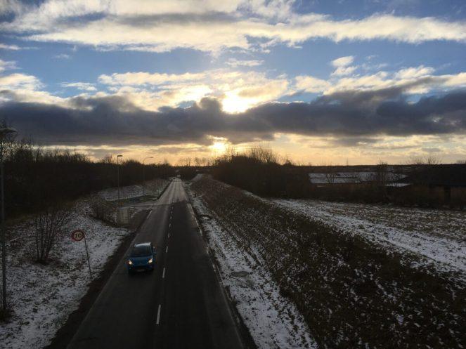 14. jan - smuk himmel fra en travetur