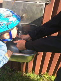At fange vandet når man er 2 år og 9 mdr.