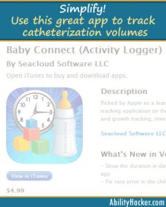 Simplify - Use this great app to log catheterization volumes
