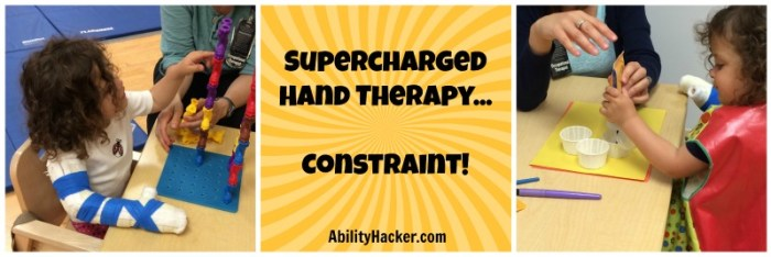 Supercharged Hand Therapy... Constraint!
