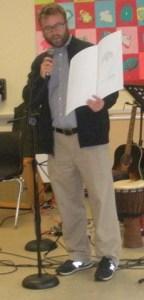 Michael Hunt reads proclamation