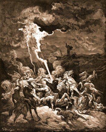 Elias fulmina os soldados do Rei Ocozias – Gustavo Doré, séc. XIX           (Ilustrações do Antigo Testamento).
