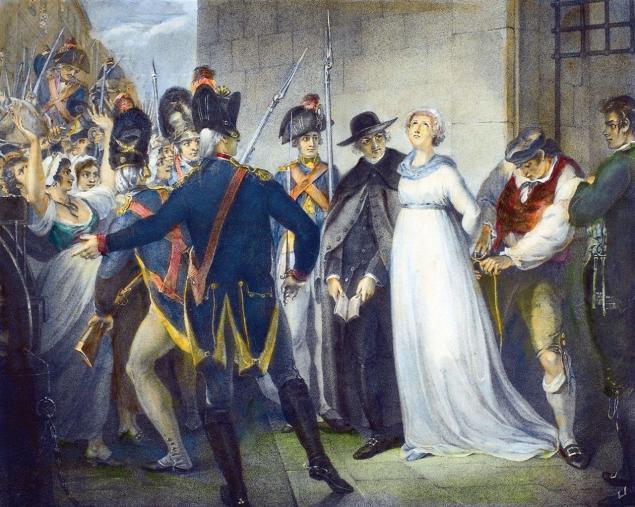 O populacho aprisiona o rei nas Tulherias em 20 de junho de 1792