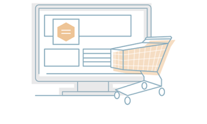 La boutique en ligne ou site marchand