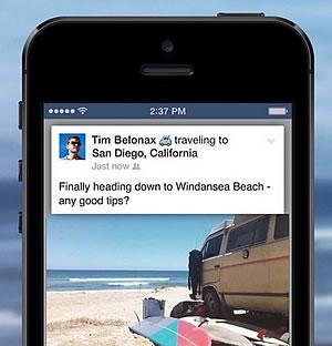 partagez vos vacances sur Facebook