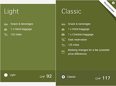 """Simplifier recherche agence de voyages : Les """"branded fares"""" (Tarifs incluant des services addtionnels)"""