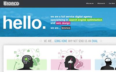 Oversize web design