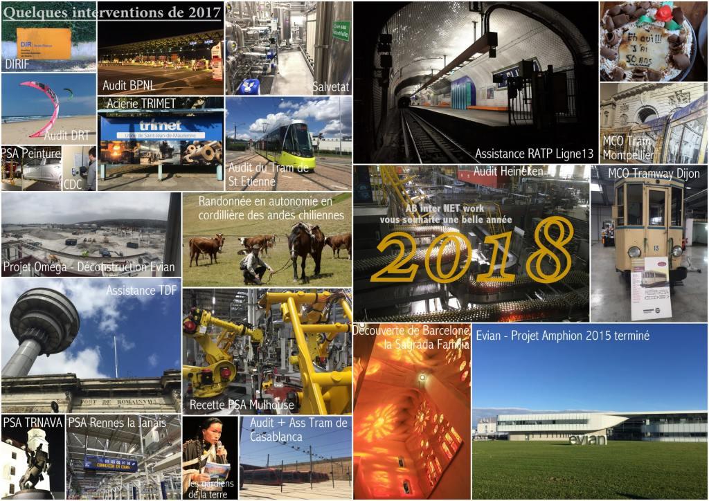 Photomontage de quelques missions et évènements importants de l'année 2017 et Voeux 2018