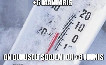 6 kraadi jaanuaris
