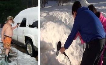 Lume sulatamine fööniga