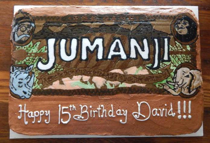 Jumanji Birthday Cake