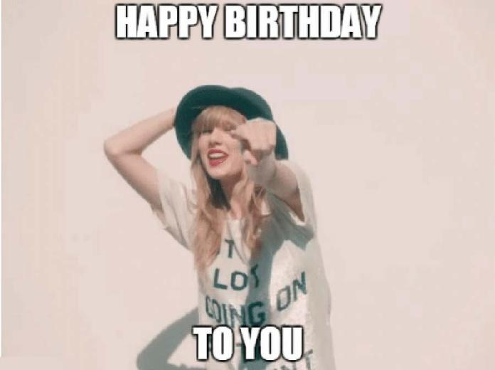 Taylor Swift Happy Birthday To You