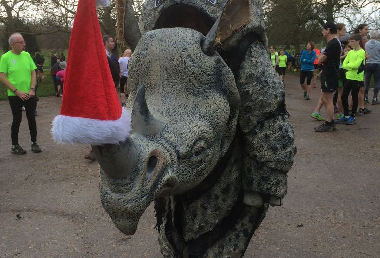 Rhino parkrunning at Wimpole Estate