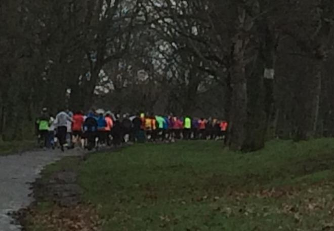 pic of start of parkrun