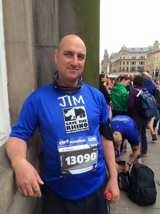 Jim ready to start at Edinburgh Marathon