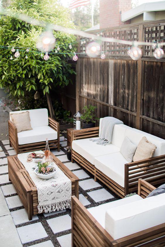 creer et decorer un salon de jardin