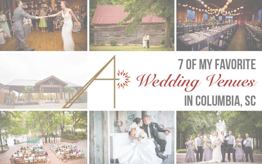 7 Of My Favorite Wedding Venues in Columbia, SC