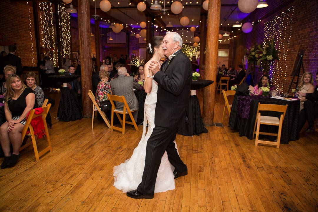 father daughter dance at city art gallery